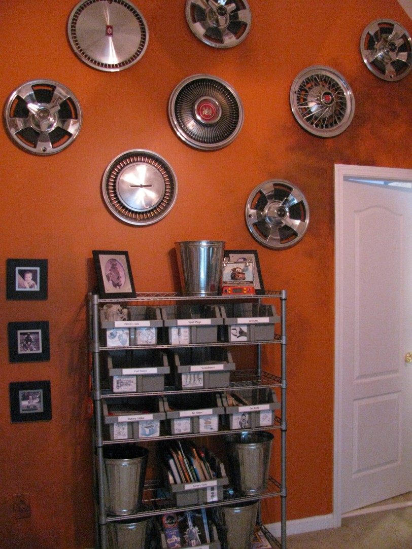 Industrial Shelves Are An Inexpensive Solution To Shelving In A Car Or