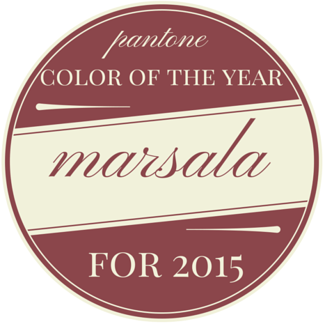 Pantone Color of the Year, Marsala | Shabby Fabrics