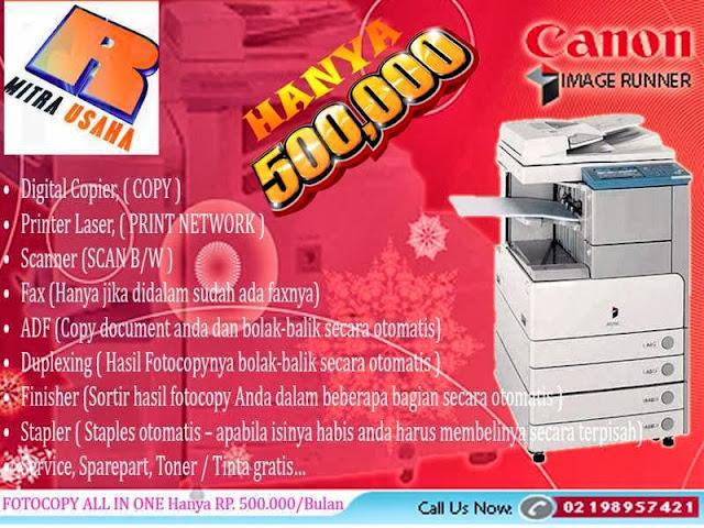 Sewa Mesin fotocopy Canon Multifungsi