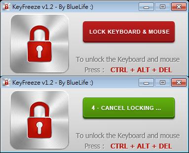 鍵盤滑鼠鎖定器軟體推薦:KeyFreeze Portable 免安裝下載,可鎖住鍵盤滑鼠避免誤觸