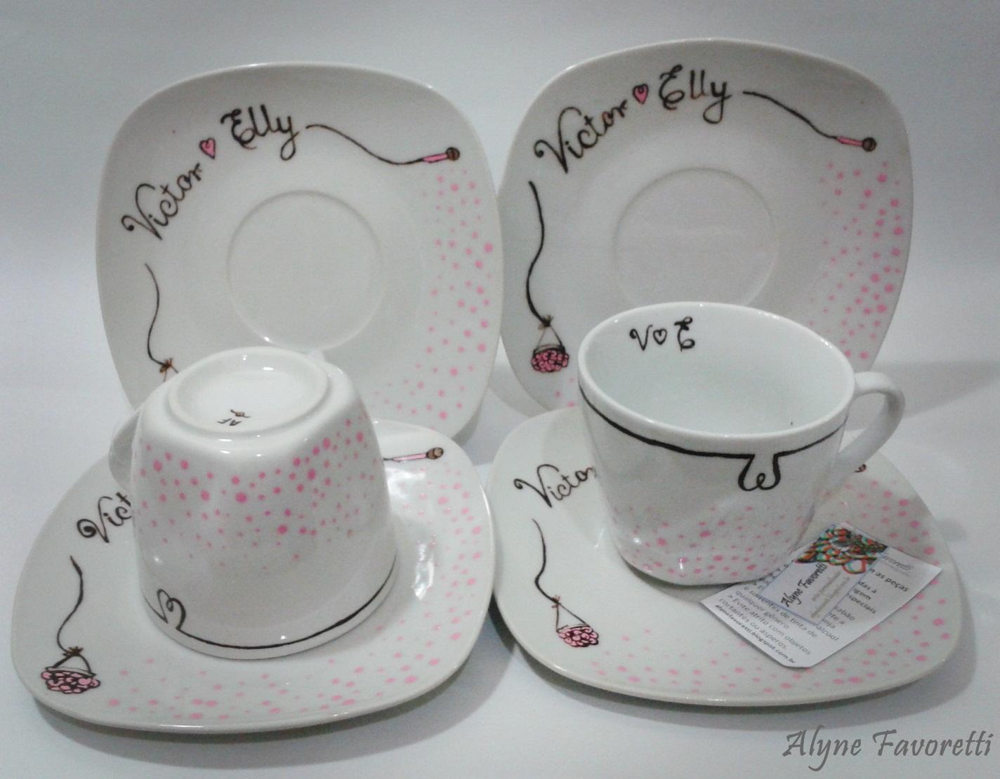 Alyne Favoretti: Aparelho de jantar personalizado para os noivos  #614847 1424x1110