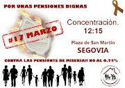 Segovia Concentración Por unas Pensiones dignas