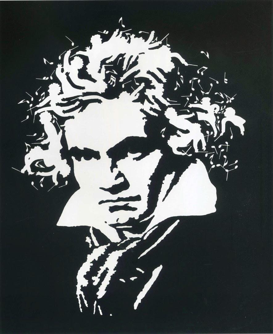 Mozart's Musical Hair Optical Illusion