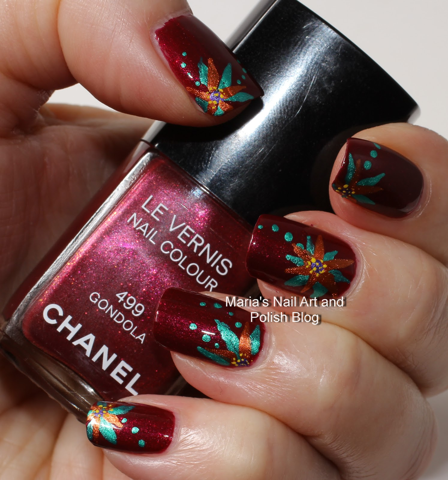 Marias Nail Art And Polish Blog Subtle Floral Nail Art On: Marias Nail Art And Polish Blog: Gondola Flowers
