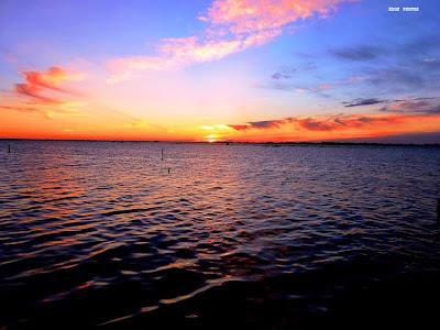 Por do sol na lagoa dos patos