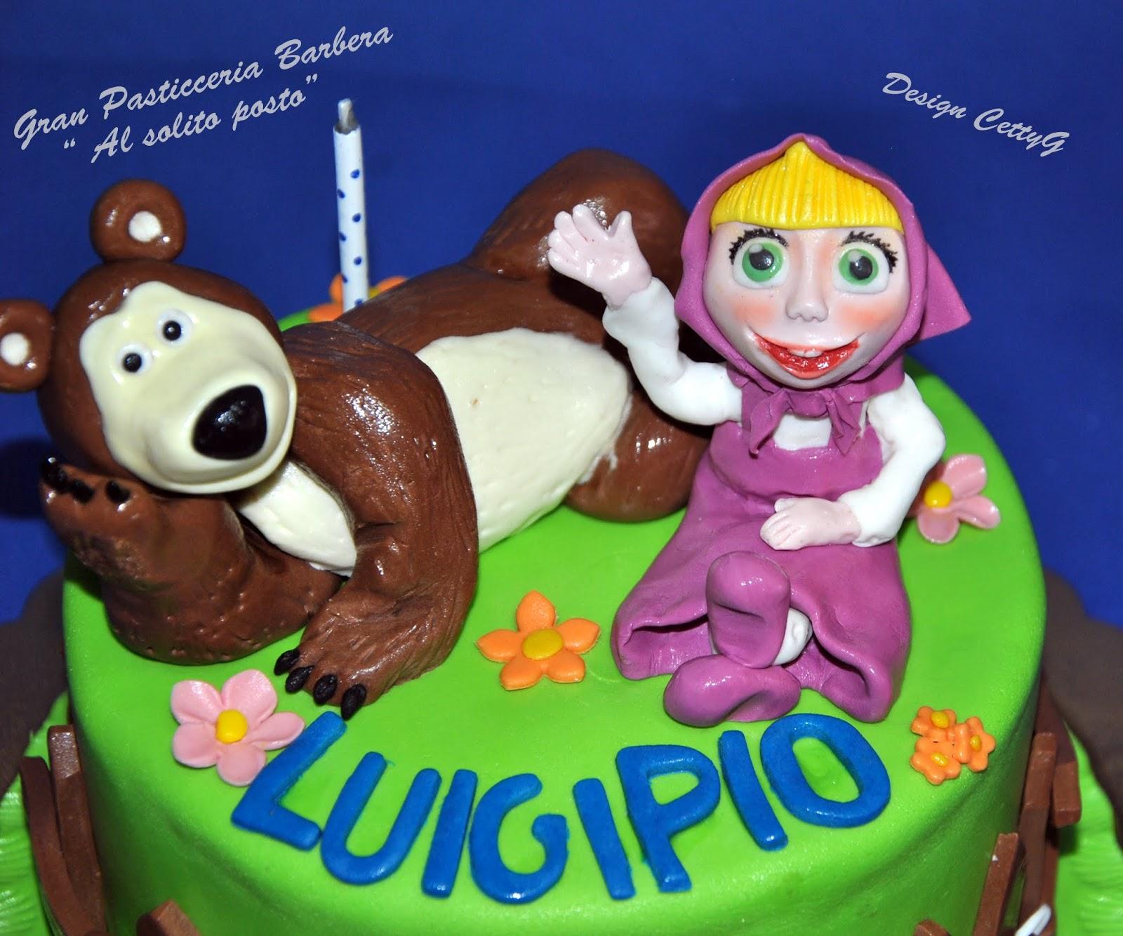 Preferenza Le torte decorate di Cetty G: Masha e l'orso cake TA18