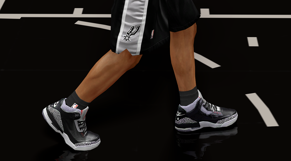 Air Jordan 3 OG NBA 2K14 Shoes Mod