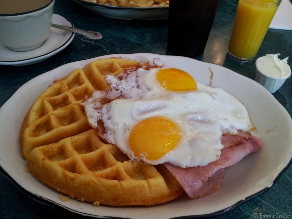 Classic US breakfast