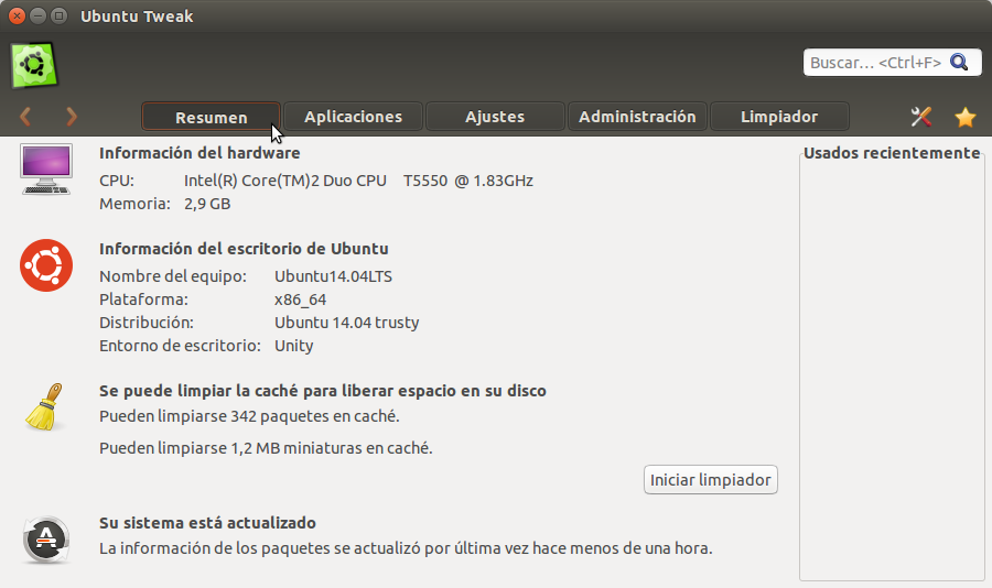 Ubuntu Tweak Resumen