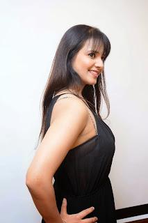 Actress Saloni Aswani Picture Gallery in Black Long Dress at (GAMA) Gulf Andhra Music Awards 2014 Press Meet  9.JPG
