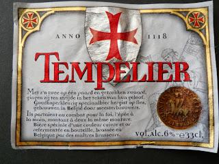 etiqueta de la cerveza belga Tempelier