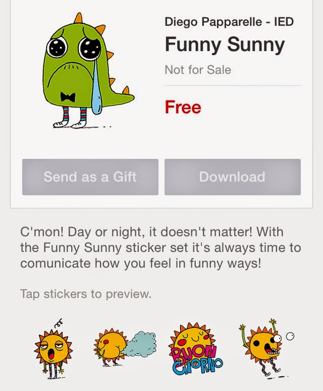 Funny Sunny sticker