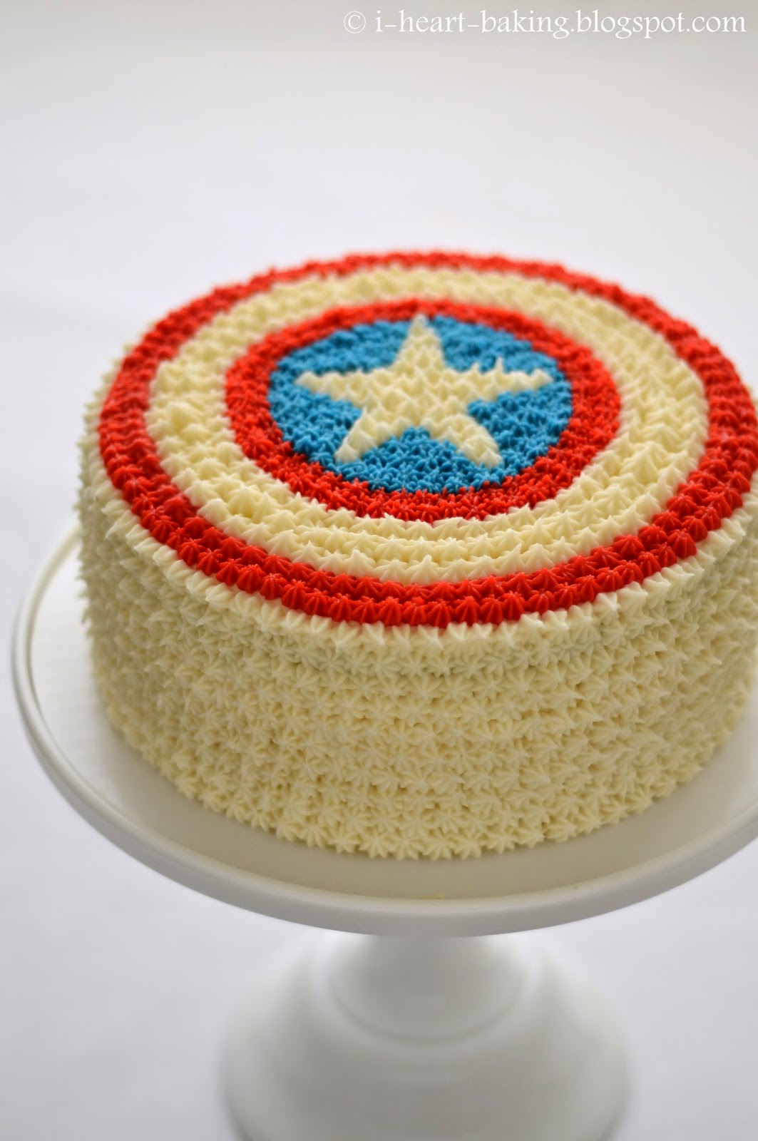 I Heart Baking Captain America Cake With Flag Inside And Haupia