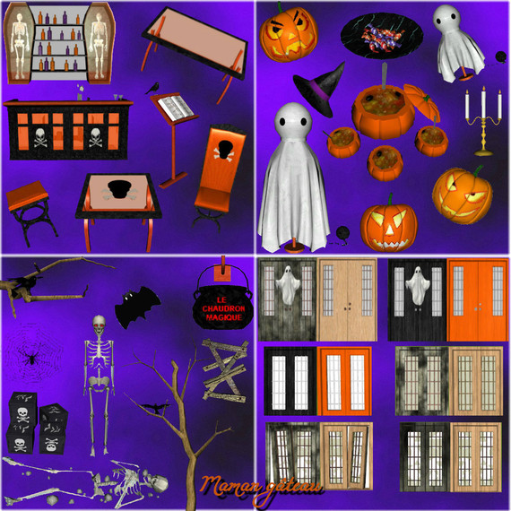 My Sims 3 Blog: Halloween Decorations And More By Choco