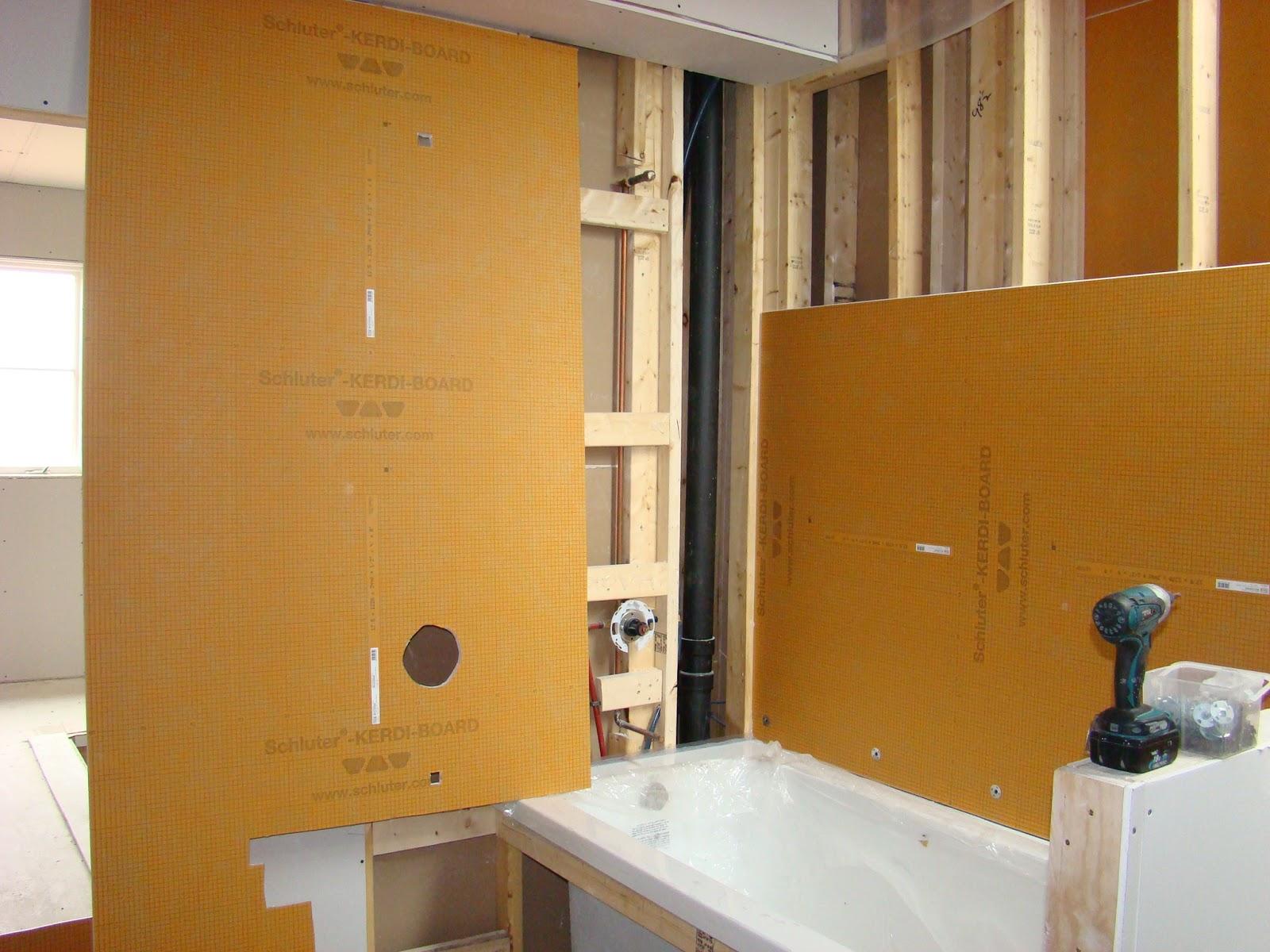 Building walnut farm drywall part 1 for Bathrooms b q installation