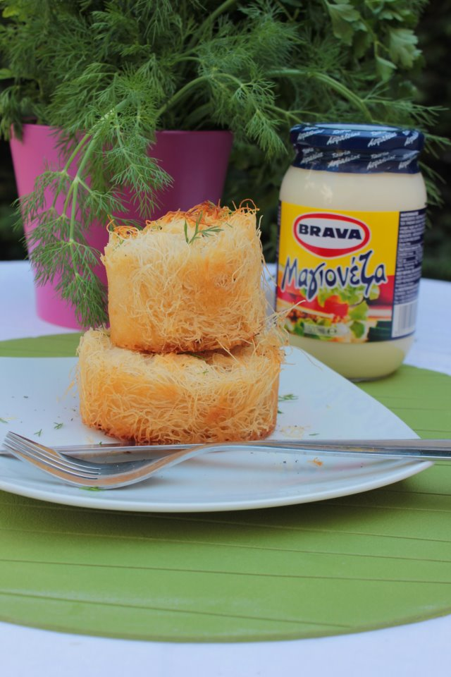 Τυρόπιττα κανταϊφι από την Κρήτη και την Αρετή Μουλακάκη, που βρήκαμε στο facebook και νοστίμεψε η μαγιονέζα BRAVA!!!
