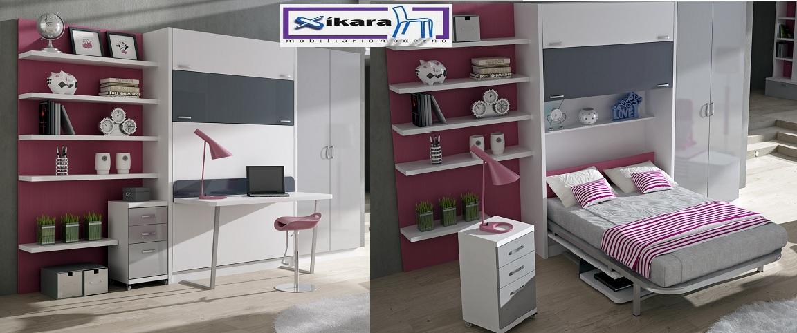 Tienda muebles modernos muebles de salon modernos salones for Cama escondida en mueble