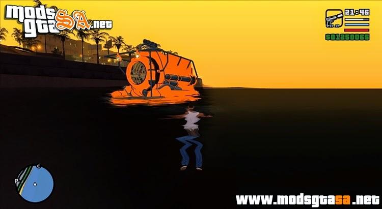 SA - Submarino do GTA V Cleo Mod