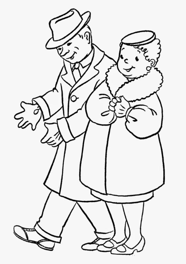 Dibujos para Colorear: Abuelos