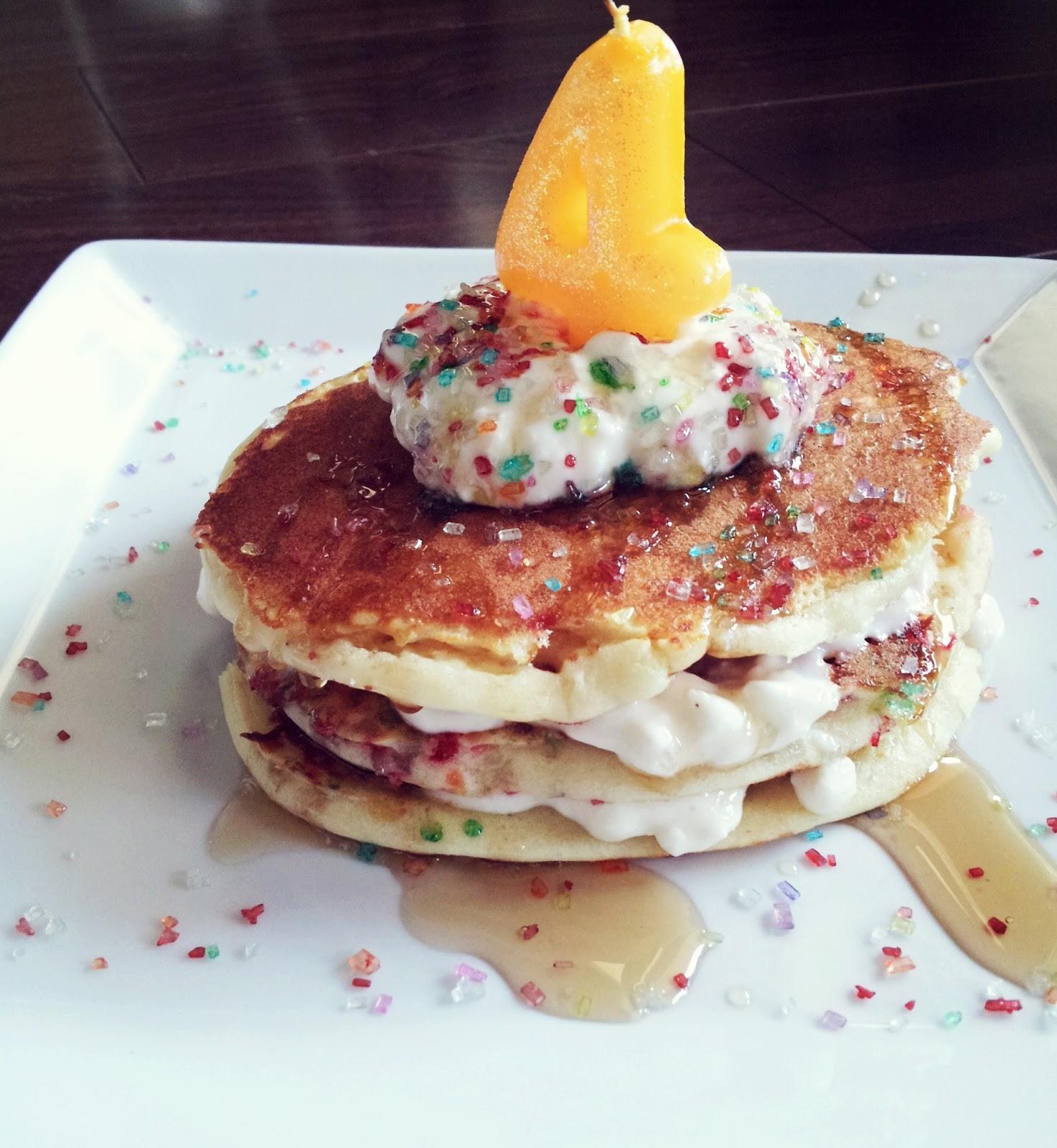 Turtle Dove Love: GF Happy Birthday Pancakes With Whip