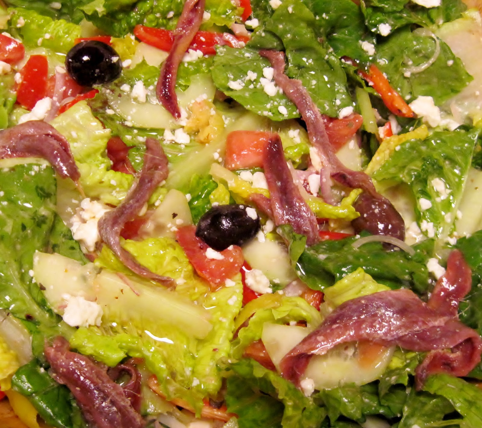 Greek Salad and Greek Vinaigrette