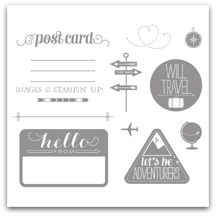 Wanderlust Stamp Brush Set Digital Download by Stampin' Up!