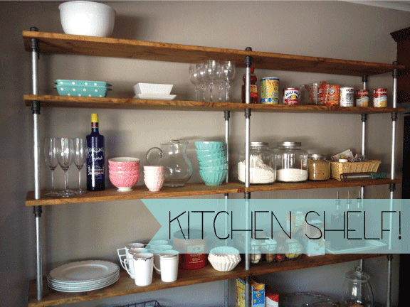 just a darling life a look into my house kitchen shelving. Black Bedroom Furniture Sets. Home Design Ideas