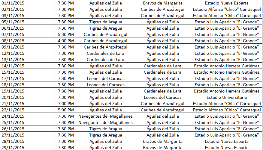 Calendario de las Águilas en la temporada 2015-2016 Calendario%2BAguilas%2Bnov