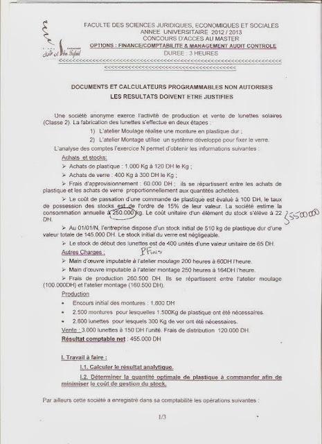 concours d u0026 39 acc u00e8s au master   finance comptabilit u00e9