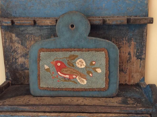 Bird Punch Needle, SOLD