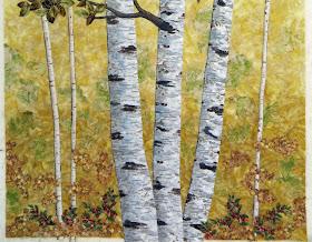 Cathy Geier's Quilty Art Blog: Golden Birches - Store Kit