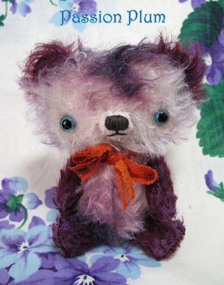 tie dye mohair artist bear