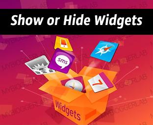 Cara Show or Hide Widgets di Halaman Tertentu Blogger