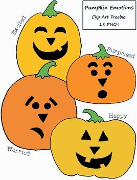 Pumpkins Emotions Clipart Freebie
