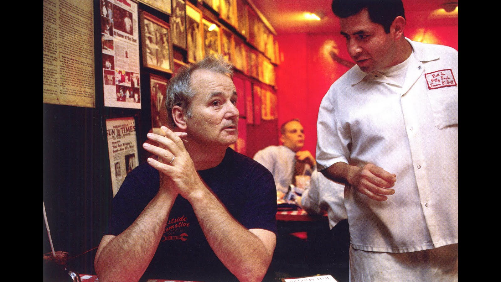 Bill Murray ordering tacos at the Billy Goat