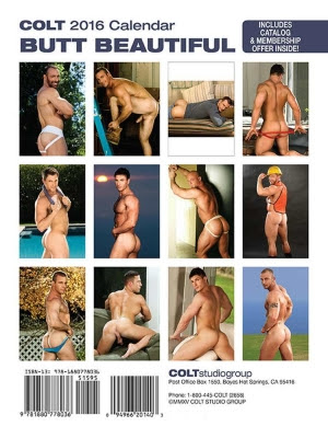 Butt Beautiful 2016 Calendar (Colt) Back Gayrado Online Shop 2
