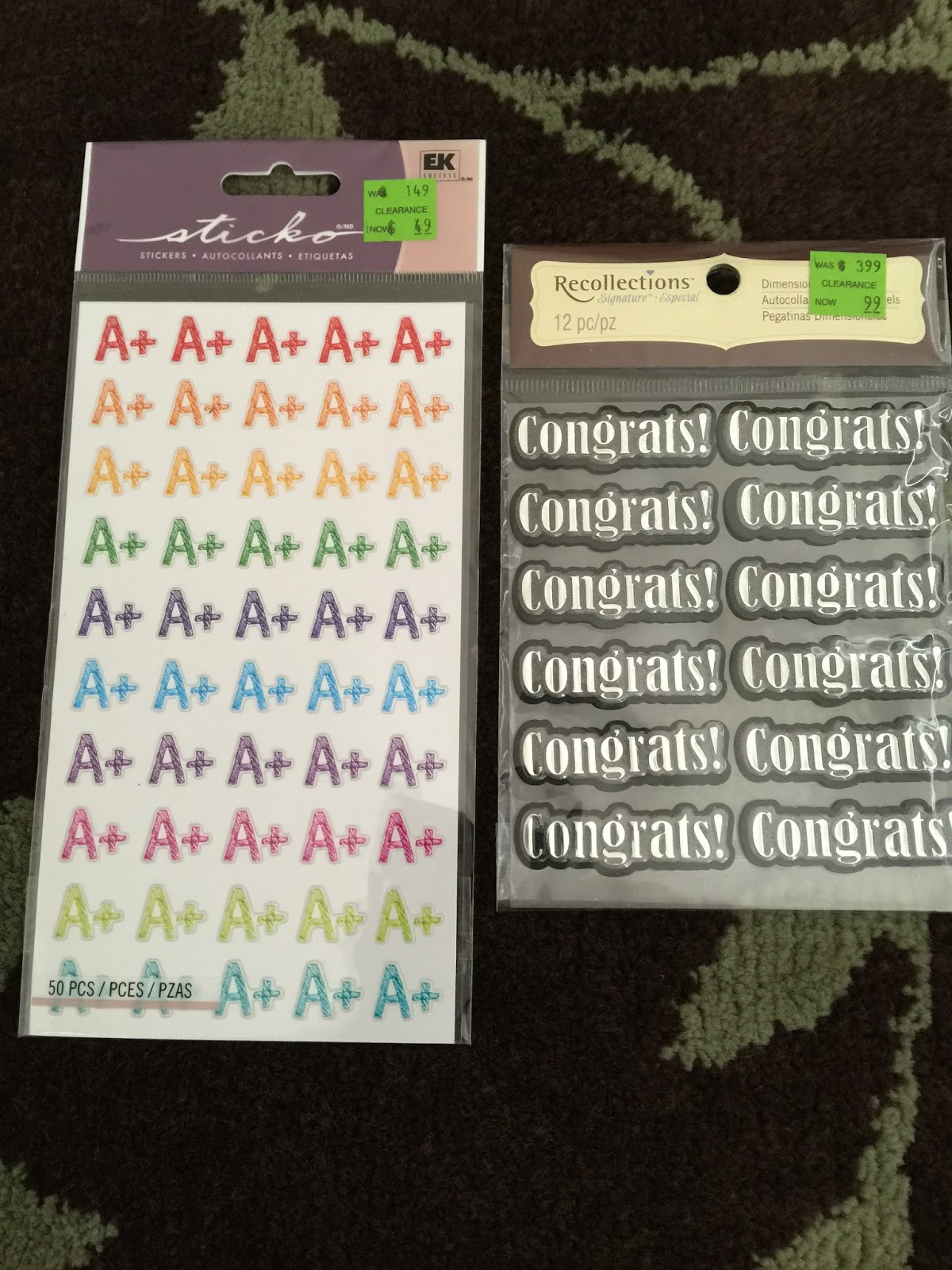 Scraptista Clearance Find Michaels Scrapbook Stickers