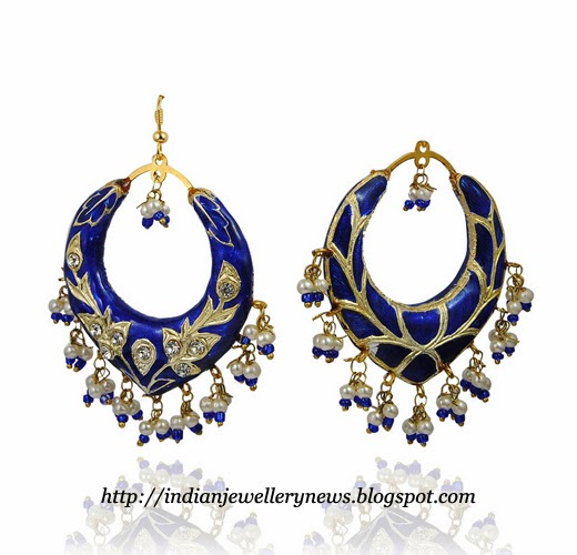 Lac Earrings Blue