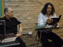 Con el escritor Pablo Montagna en la UNQUI