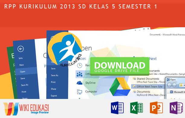 RPP KURIKULUM 2013 SD KELAS 5 SEMESTER 1 - Benda-Benda di Lingkungan Sekitar Hasil Revisi Terbaru 2015