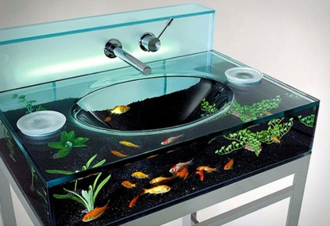 design aquarium - Cool Indoor Pools With Fish