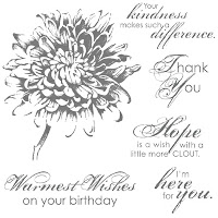Stampin'UP! stamp set: Blooming With Kindness