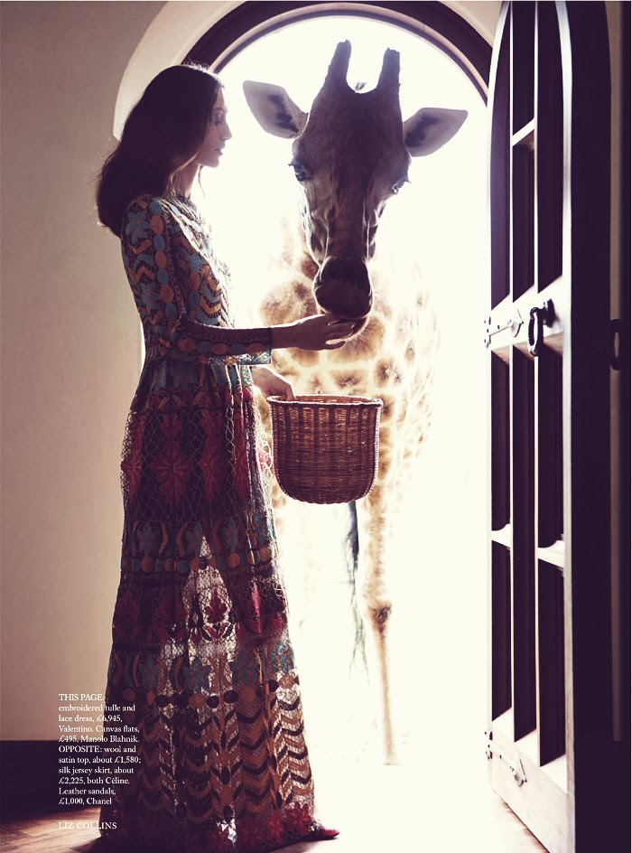 Giraffe Manor in East Africa, alana zimmer photographed by liz collins & styled by leith clark for harper's bazaar uk