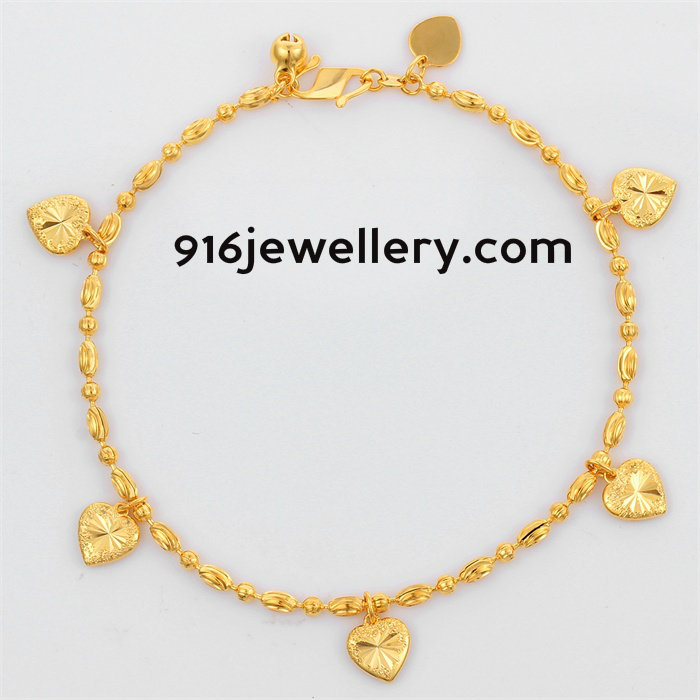 Bracelates || 916 jewellery: Gold bracelets for women designs