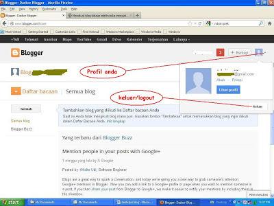keluar dari blogger