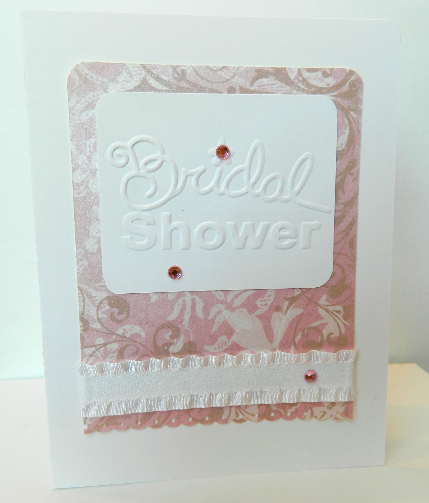 for this card i used an embossing folder from sizzix for the sentiment the patterned paper used on all of these cards is the luxury stack from dcwv and the