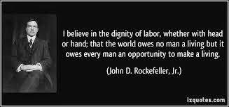 Inspirational quote by Rockefeller
