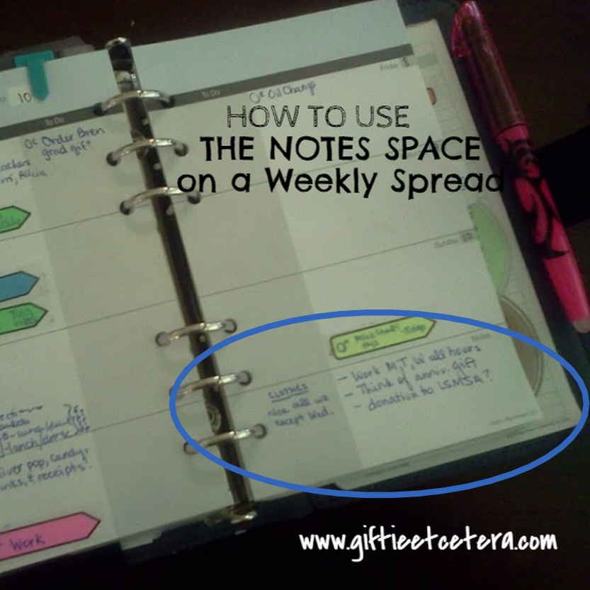 weekly, planner, notes