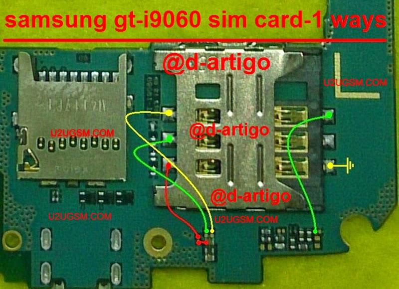 Samsung Grand Neo I9060 Insert Sim Jumper