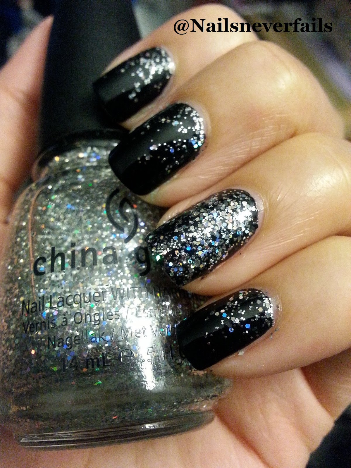 Nails Never Fails: NOTD Marc Jacobs edition!! OPI Onyx with China ...